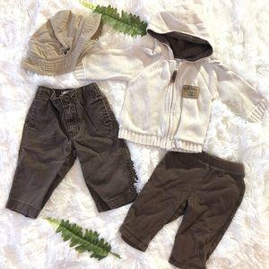 6-12 Months Old Navy Baby Boy Brown Outdoor Bundle